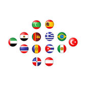 Flags of Tourist Countries — Stock Vector