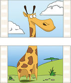 Giraffe on film — Stock Vector