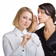 Two friends gossip — Stock Photo