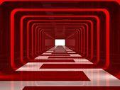 Czerwony korytarz — Zdjęcie stockowe