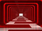 Red corridor — Stock Photo