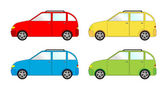 Paquete de vehículo - hatchback — Vector de stock