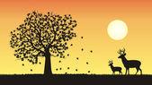 One of four seasons - fall, autumn — Stock Vector