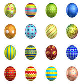 3d rendering Easter eggs, big pack collection — Stock Photo