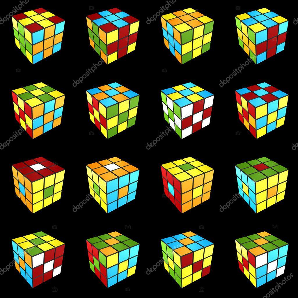 Как сделать узор на кубике рубика куб в кубе