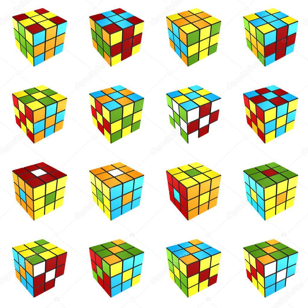 Кубик рубик узоры на нём