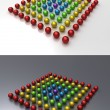 Royalty-Free Stock Photo: Color balls rainbow (on studio table)