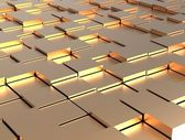 Abstract background - gold shiny different cubes — Stock Photo