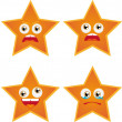 Stock Vector: Star smiles