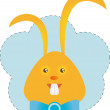 Funny orange bunny — Stock Vector