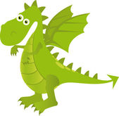 Green dragon — Stock Vector