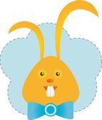 Funny orange bunny — Stock Vector