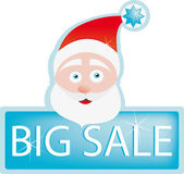 Big Christmas sale with Santa — Stock Vector