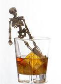 Alcoholism problem — Stock Photo