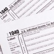 1040 tax form — Foto de stock #7140295