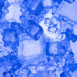Stock Photo: Background with blue ice cube