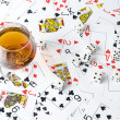 Cognac and playing card — Stock Photo #7169962