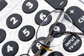 пульт дистанционного управления и очки — Стоковое фото