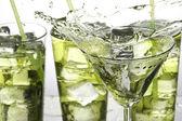 Grüner cocktail — Stockfoto