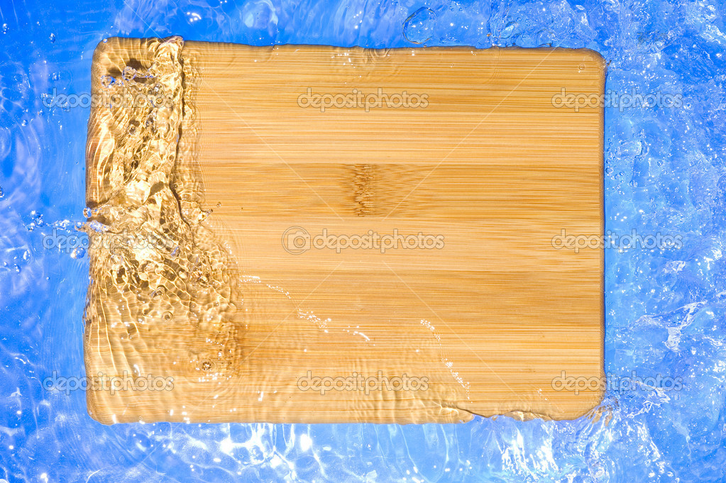 Texture wood .Background wood with splashing water — Stock Photo #7160937