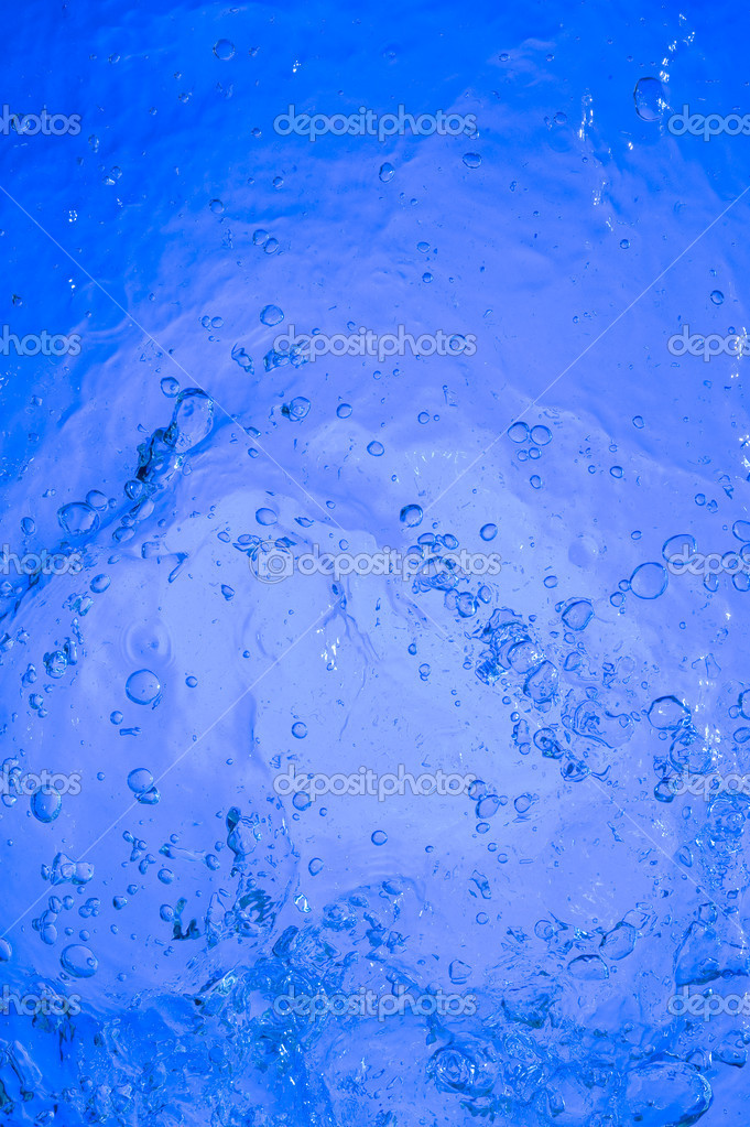 Background with blue water. Creative bubbles  Stock Photo #7161153