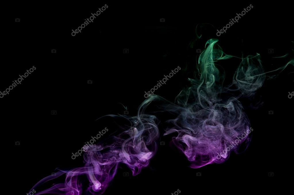 Creative smoke on black background. Abstract fumes — Stock Photo #7161703