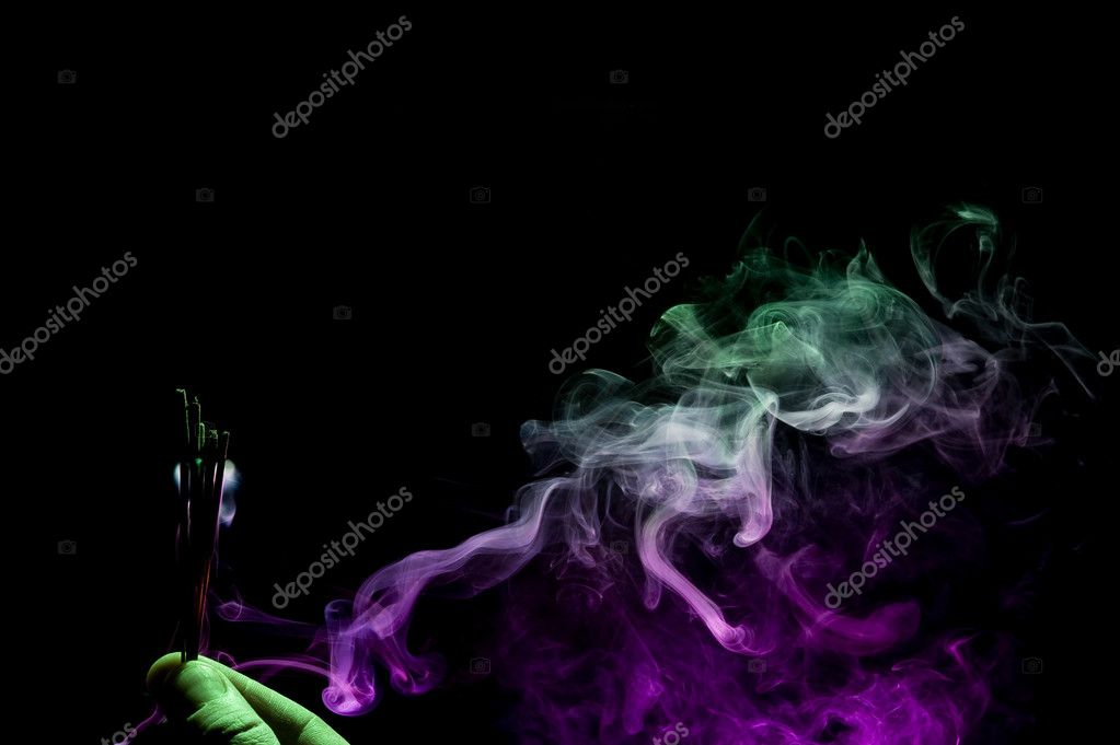 Creative smoke on black background. Abstract fumes  Stock Photo #7161715