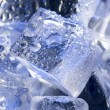 Background with blue ice. - Stock Photo