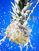Pineapple with milk — Stock Photo