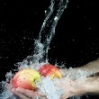 Apple and water — Stock Photo #7192275
