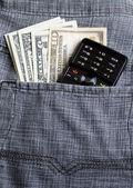 Dollar in pocket — Stockfoto