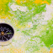 Background with compass - Stock Photo