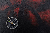 Background with compass — Stock Photo