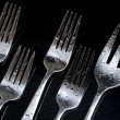 Fork on the black background — Stock Photo #7254609