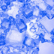 Background with blue ice cube — Stock Photo #7254932
