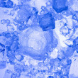 Background with blue ice cube — Stock Photo
