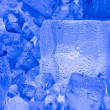 Background with blue ice cube — Stock Photo #7254965
