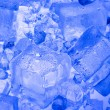 Background with blue ice cube — Stock Photo #7254984