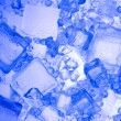 Background with blue ice cube — Stock Photo #7255002