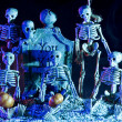 Halloween skeleton — Stock Photo