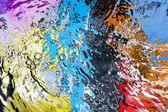 Renkli su yüzeyi — Stok fotoğraf