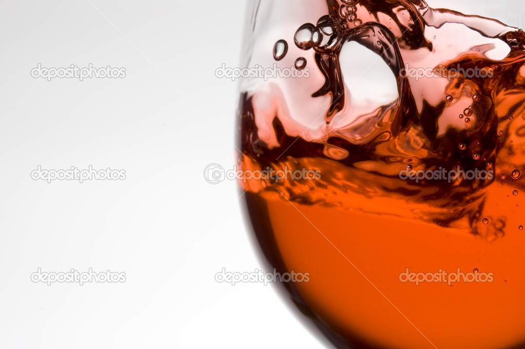Splashing red wine.Pouring wine — Stock Photo #7261555