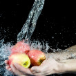Apple and water — Stock Photo #7270709