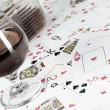 Cognac and playing card — Stock Photo #7270880