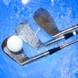 Golf club in blue water — Stock Photo #7271346