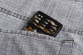 Phone in pocket — Stock Photo