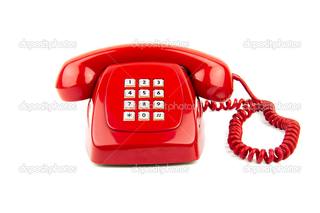 An old style digital telephone isolated on white — Stock Photo #6988565