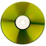 Gold CD texture — Stock Photo
