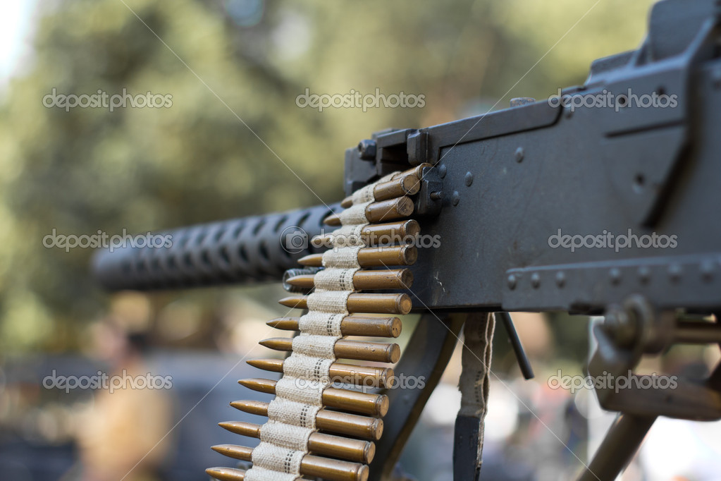 Detail of Machine Gun, World War II style  Stock Photo #7326306