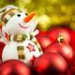Wool Snowman — Stock Photo #7398747